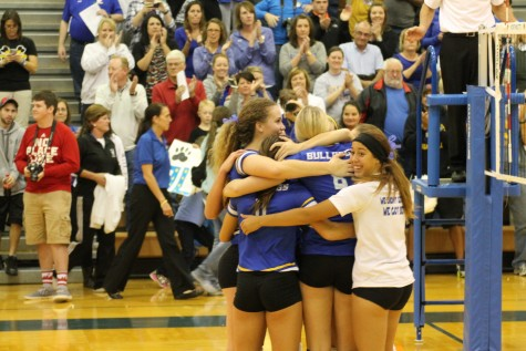 Lady Dawgs celebrate going to State.