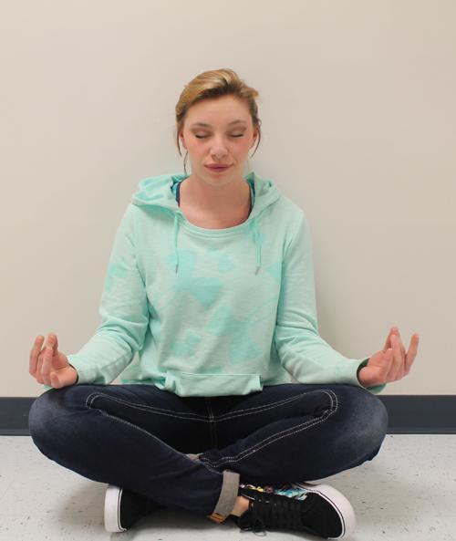 Junior Tierney McPike peacefully meditating