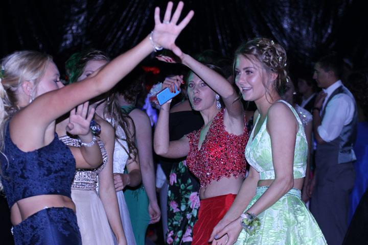 Freshman Alyssa Driggs, junior Zoe Hipp and friends