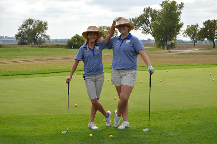 North Platte's top two golfers looking fashionable before the meet on September 22.