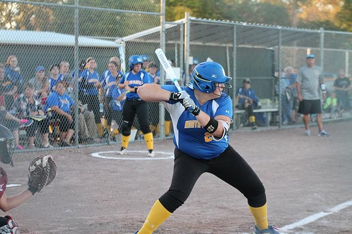 Junior Tayler Coleman practicing her fundamentals at the plate.