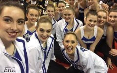 The North Platte dance team ranks above the Grand Island team in Jazz at state.