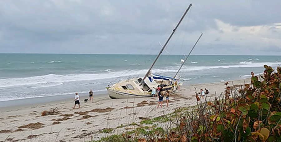 After Hurricane Irma passed over Florida, this abandoned ship full of mannequins, named Cuki, washed ashore on Melbourne Beach. It is believed it came from the Florida Keys and made its way up the east coast.
