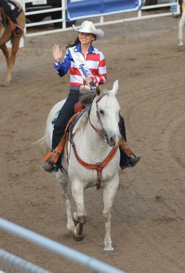 """Howard is riding Western style, which Howard says is a, """"form of work. Think of cowboys, ranches, the western lifestyle."""""""