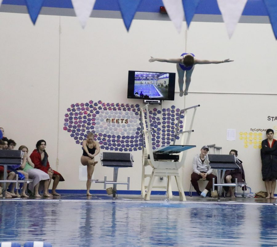 Junior Riley Smith placed third at the GNAC diving competition in Kearney on Feb. 9.