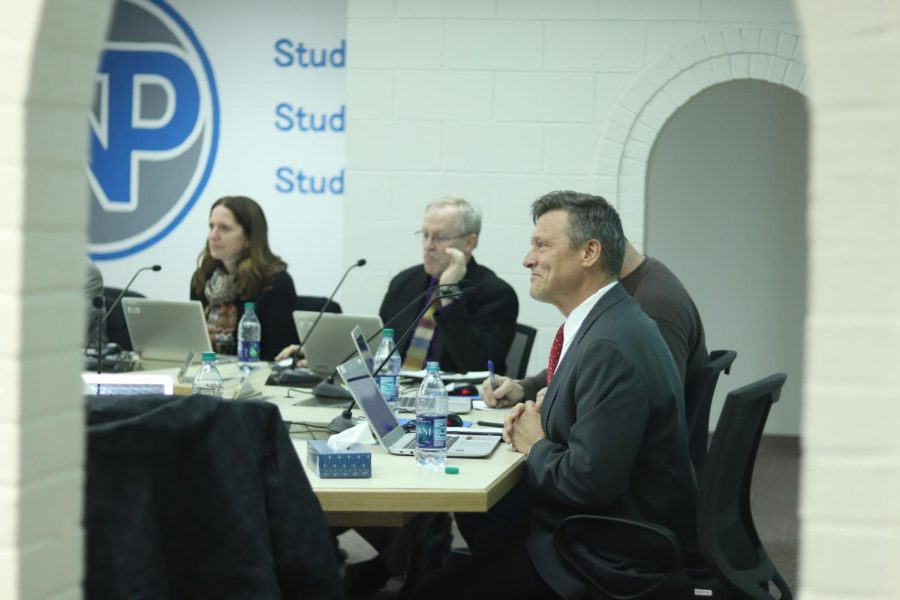 Superintendent Ron Hanson during the NPPS Board of Education meeting.
