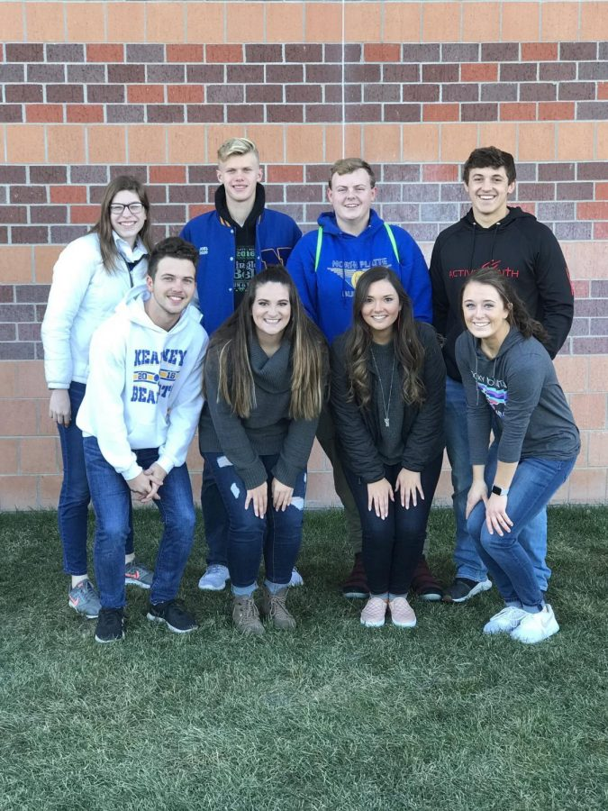The All-State Music participants pose for a picture before leaving for Lincoln on Nov. 14.  Bradley (back, middle left) said he was glad to be a part of such an experience.