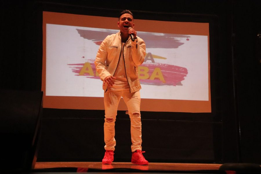 Puerto Rican artist, Edgar Rene, made Spanish students dance and sing along on a very eventful concert  at North Platte High School.