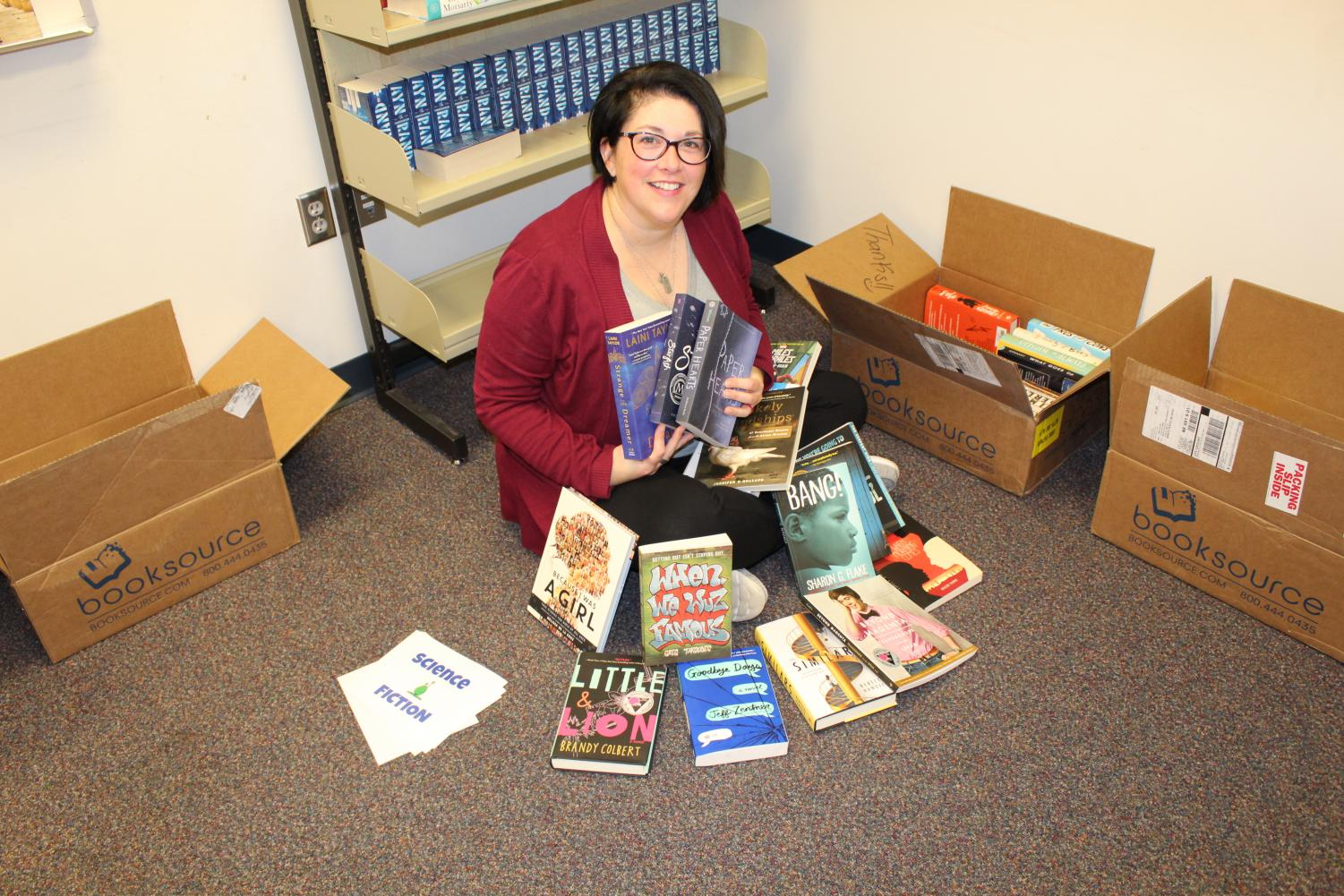 Allen's grant was enough to purchase 250 books.