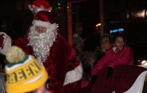 Santa Claus during the downtown parade on November 12th.