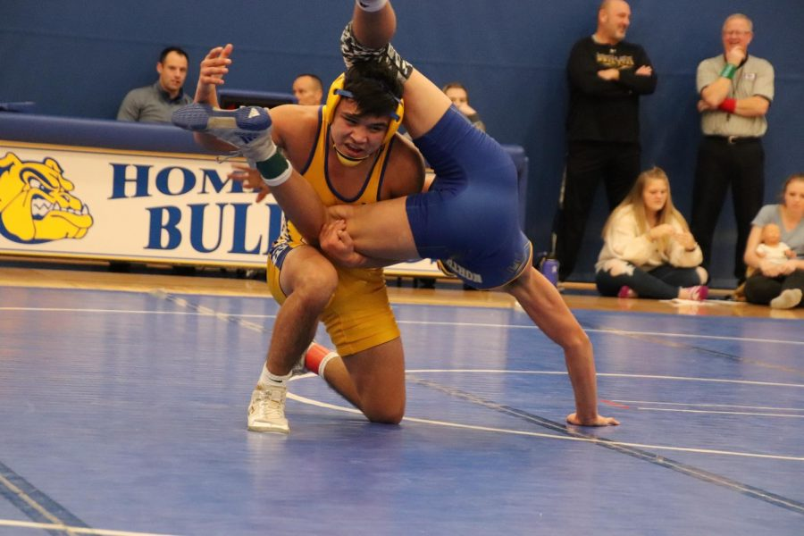Juniors Darian Diaz and Raymen Riley were pair against each other. Darian was excited to be back on the mats.