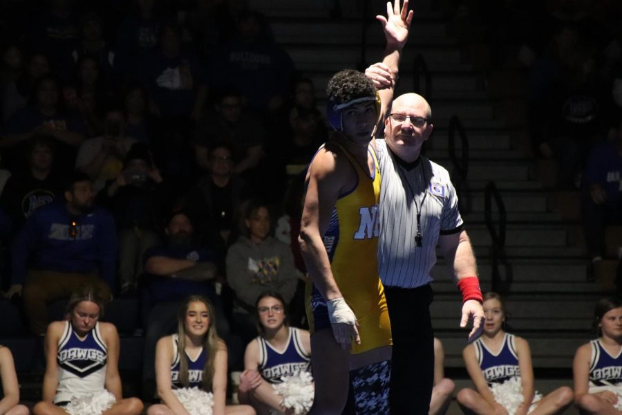 The+North+Platte+Bulldogs+went+one+and+one+in+their+duals+with+Hastings+and+Scottsbluff.+Junior+Raymen+Riley+finished+the+first+dual+for+the+bulldogs+with+a+pin+against+Scottsbluff.+Over+half+of+North+Platte+wrestlers+pinned+Bearcat+wrestlers%2C+including+the+lone+senior+of+the+team%2C+Gus+Kreber.