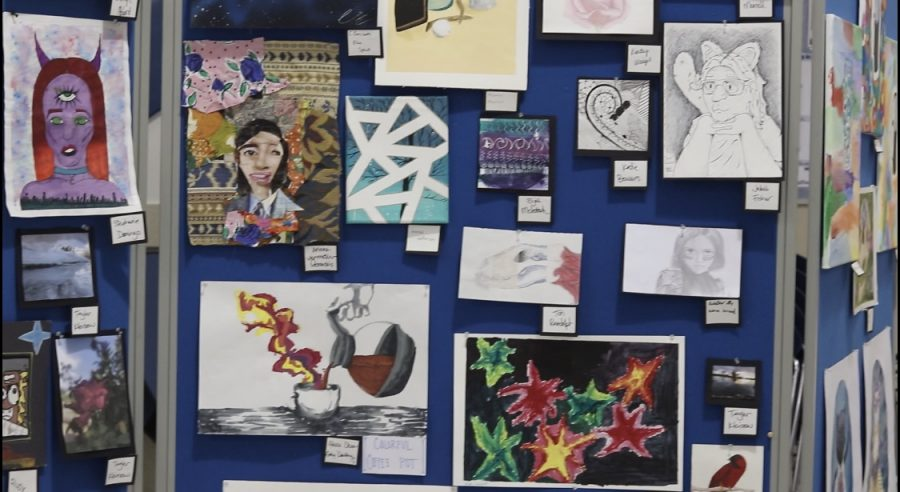 NPHS art students display art for those to see and enjoy
