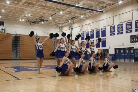 The Pacer Dance Team preformed their state Pom routine at NPHS
