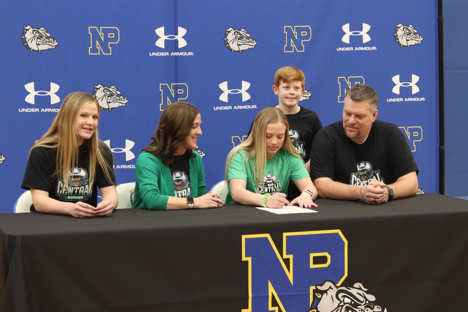Senior Madilyn Ayres signs to play soccer with Central Community College on January 5.