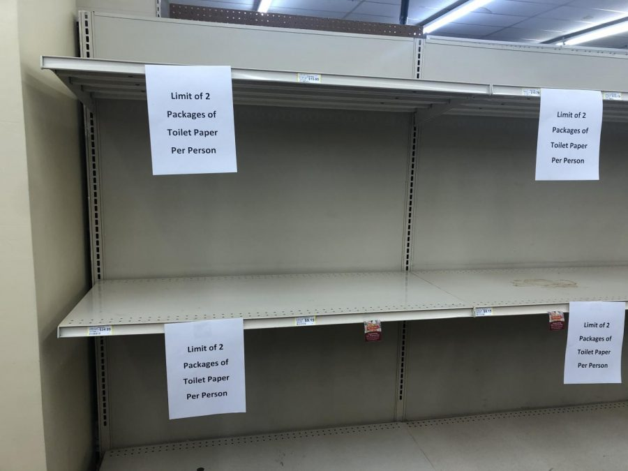 North Platte grocery stores are running out of essentials.  Gary's Super Foods was completely out of toilet paper on March 19. To discourage hoarding, the store has been limiting sales to  two packages per person.
