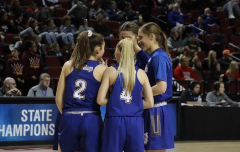 Some of our Lady Bulldogs came together on the court before the state game on Thursday.
