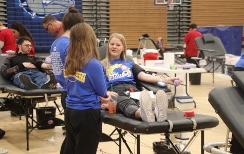 Senior Maggie Lashley believes giving blood is important.