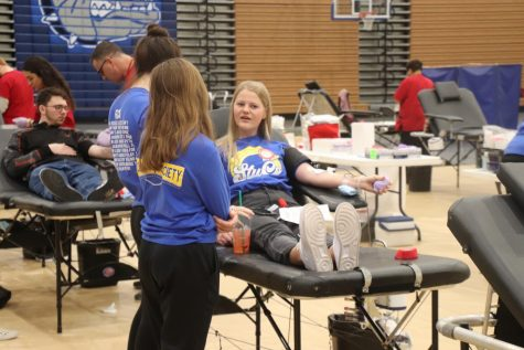 "Senior Maggie Lashley believes giving blood is important. ""I don"