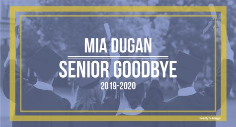 Senior Mia Dugan writes life lessons to her younger self.
