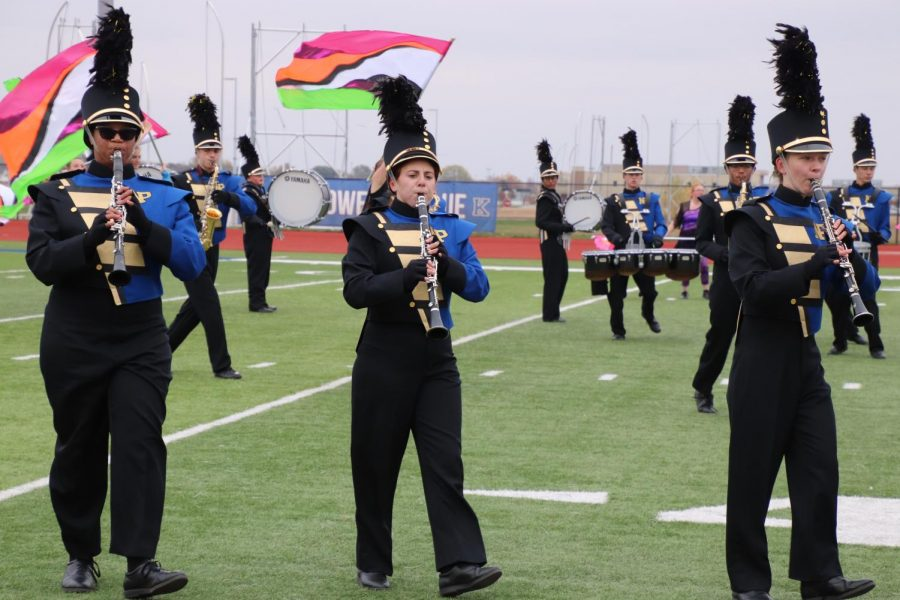 North Platte High School's marching band earned a superior at the Kearney Columbus Corona Competition in Kearney on Oct. 24.