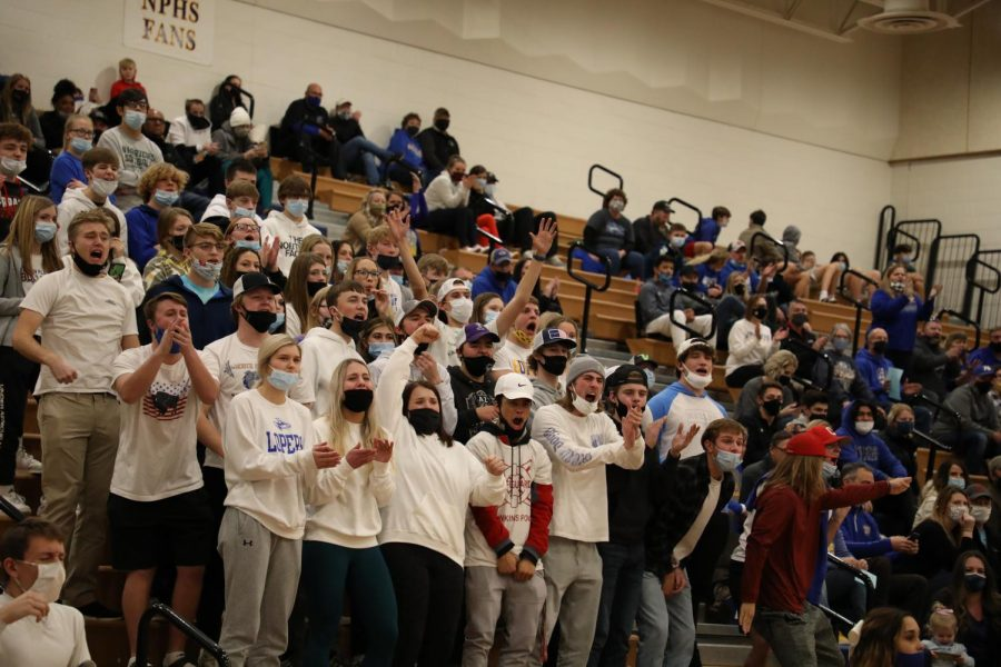 A student section at one of the North Platte basketball games. The student section came back for basketball on January 18, 2021.